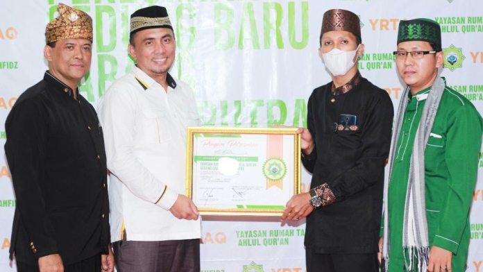 Suasana peresmian cabang baru Rumah Tahfidz Ahlul Quran - Batubara. (Dok. Istimewa)