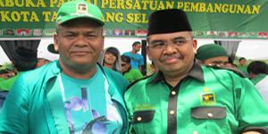 Haji Bima (Memakai Topi) dan Caleg PPP Dapil Banten III, H. Irgan Chaerul Mahfidz