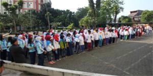 Latihan Gabungan PMR Se-Kota Tangsel