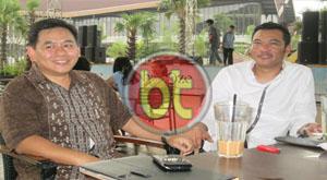 Ketua DPC Partai Gerindra Tangsel, Zaid Elhabib Bersama wakil Ketua DPRD Tangsel, TB Bayu Murdani (Foto : Dra)