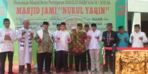 Walikota Tangerang Beserta Jajaran saat Peresmian Masjid