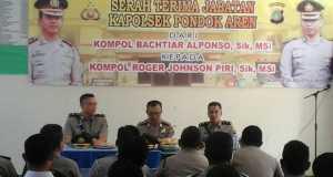 Serah terima jabatan (Sertijab) Kapolsel Pondok Aren dari Kompol Bachtiar Alfonso SIK