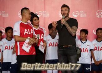 Antusiasme Fans Sepakbola di Indonesia Membuat Beckham Terpesona
