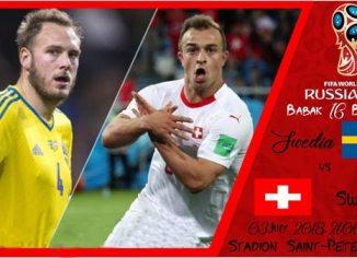 Prediksi Babak Perempat Final Piala Dunia Swedia vs Swiss - Bandar Bola Online