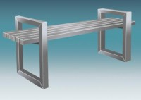 Stainless Steel Square Pipe Bench  ST-SQ-PIPE