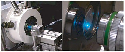 optical setup for single plasmon laser