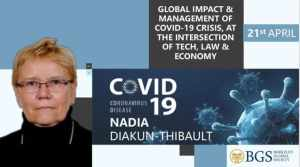 Nadia Diakun - one of the panelists of Webinar 2 organised by BGS on management of COVID-19