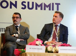 Dr. Numa Isnard and Alexander Kirschstein - with berkeley Global Society - speaker at the International Summit delhi 11.2019