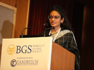 Sharmila Nair Berkeley Global Society member - closing speech of the International Arbitration Summit - New-delhi 11.2019