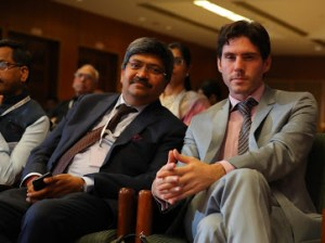 Sir Rajnish Pathiyil and chairman Aubin Gonzalez Lapos in Delhi Arbitration Summit