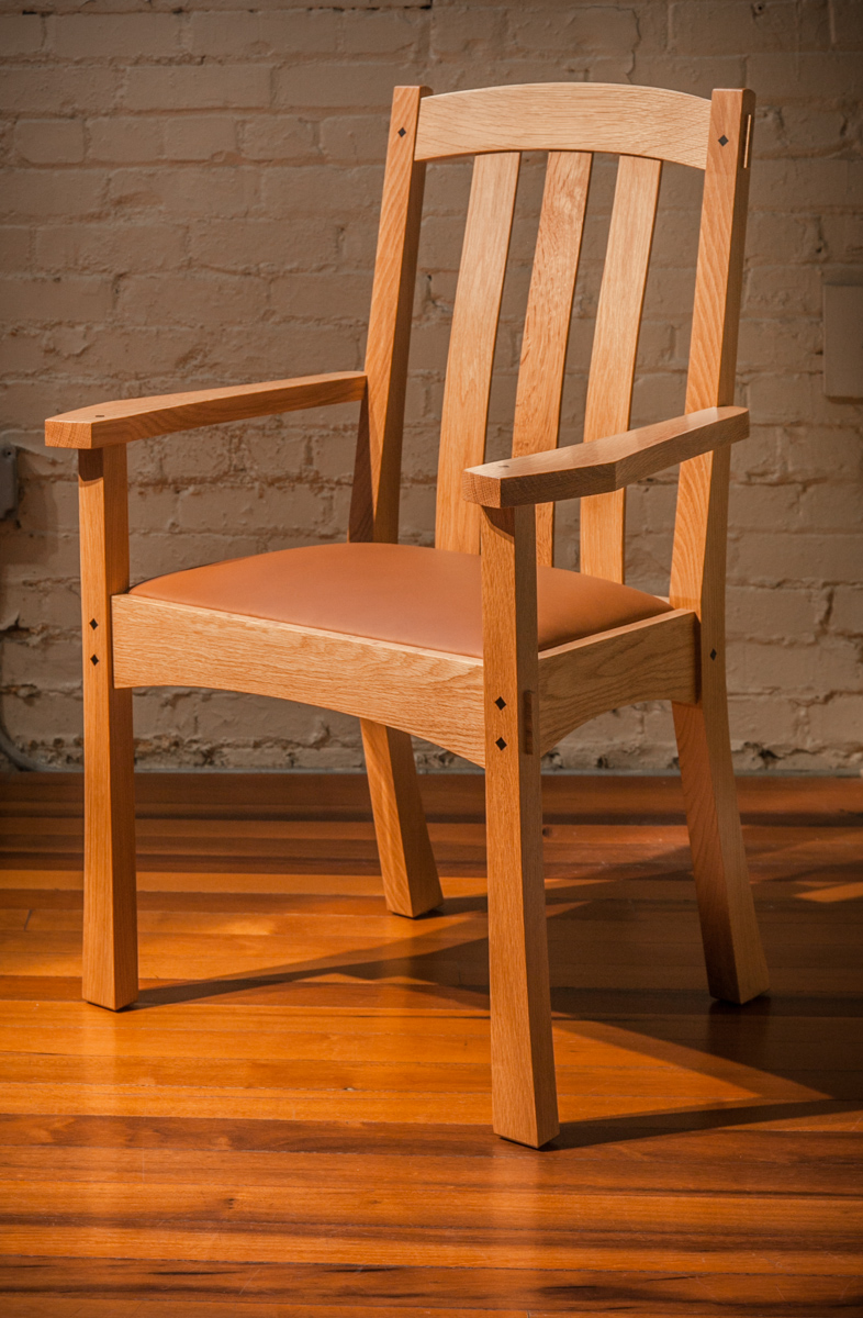Arts  Crafts End Chair Lowback by Berkeley Mills