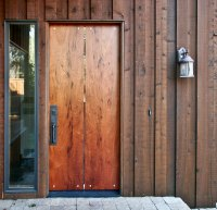 Door Slab & Modern Slab Wood 1 Panel Stained Interior Barn ...