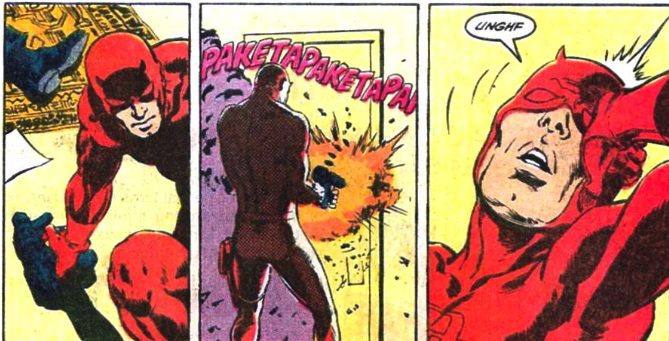 daredevil uses a gun