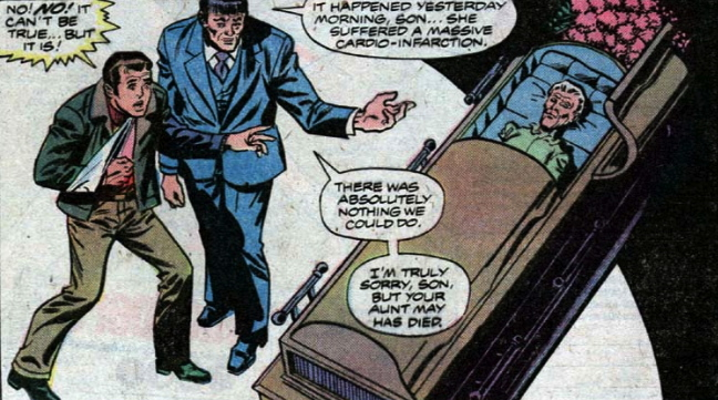 aunt may in a coffin