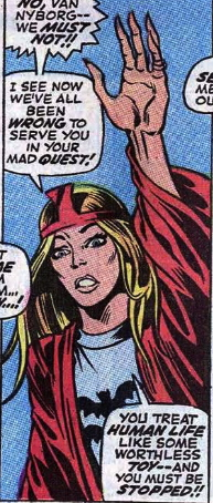 First Appearance of Barbara Norris--The Valkyrie