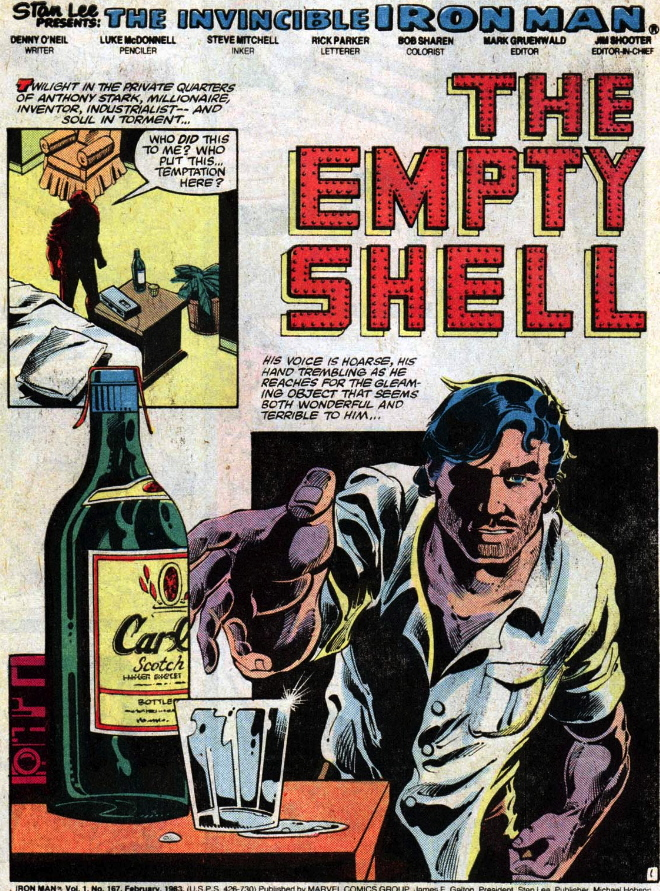 iron man 167 alcohol splash page