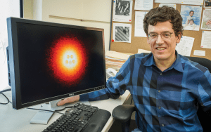 An integral member of the team, Professor Crommie of the physics department supplied the imaging resources and know-how to acquire the striking images of Gorman's molecules. Credit: Berkeley Lab - Roy Kaltschmidt
