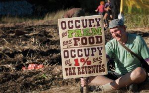 Scene from the 2012 Occupy the Farm movement. (credit: Sacha Kimmel)