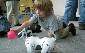 AIBOs may have therapeutic benefits for children. Photo courtesy of Wikimedia Commons