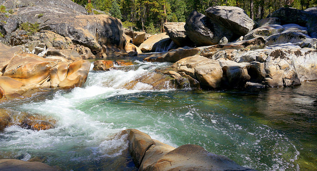 Fordyce River above Lake Spaulding, Nevada County, CA. Erin Johnson. CC BY-NC 2.0.