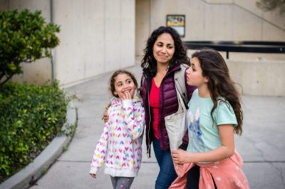 Anastasia Chavez and her two daughters. Image: Daniel Lurie
