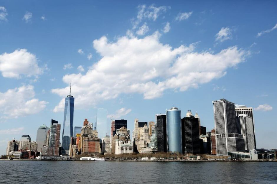 New York City financial district - arguable the most financially influential city in the world.