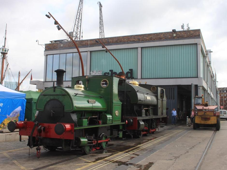 The old Bristol harbour railway located outside the modernised M-Shed, which was formally a dockside transit shed. The collision of old and new in the heart of Bristol.