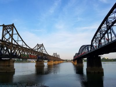 Dandong bridge to North Korea