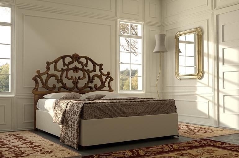 cd7b9b06b4c1 Ο τρόπος επεξεργασίας του ξύλου εξαρτάται από το πώς το κρεβάτι ταιριάζει  στο ύφος της κρεβατοκάμαρας. Οι αυστηρά κατασκευασμένες κεφαλές δεν  διακοσμούνται