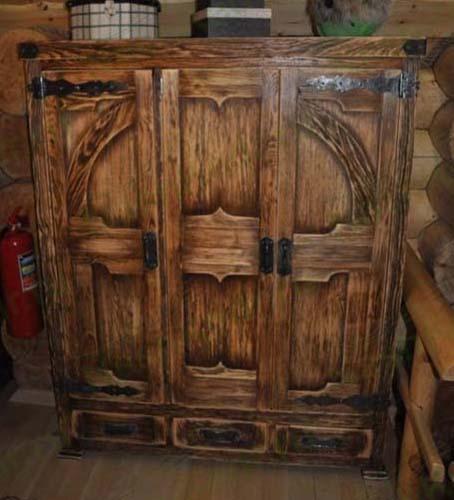 Muebles de madera se ve natural