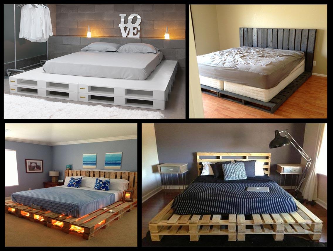 кровати из паллет поддонов фото или
