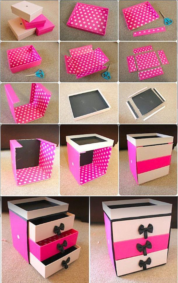 Cara Membuat Kotak Kosmetik Dari Kardus : membuat, kotak, kosmetik, kardus, Lemari, Berlaci, Karton, Sendiri., Mahakarya, Karton.