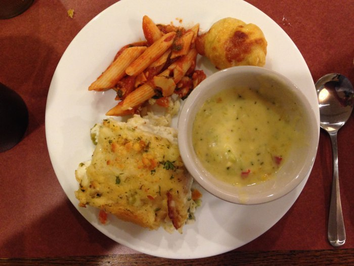 wyomissing-restaurant-cream-of-broccoli-soup-crab-penne-vegetable-lasagna