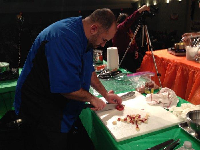 Chef Michael Martino hard at work.