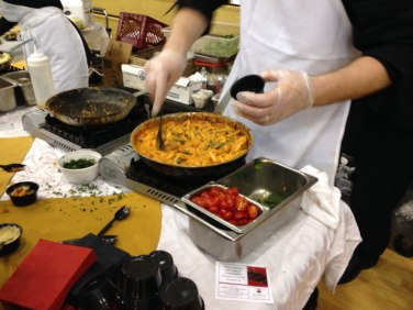 ViVA was making two pastas at their stand, including this shrimp penne with vodka sauce.