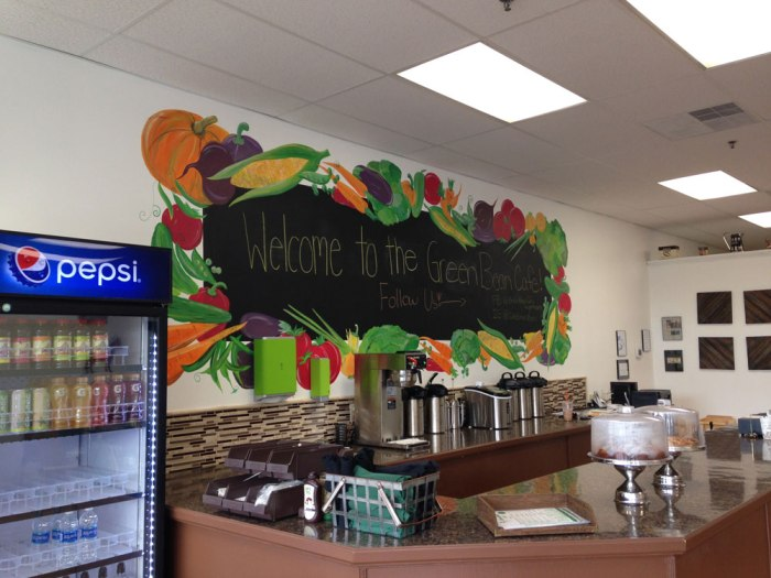 Inside the Green Bean Cafe in Wyomissing, PA.
