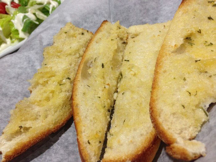 Garlic bread from Sophia's Italian Restaurant & Pizzeria, Reading, PA.