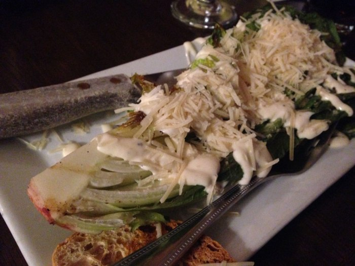 Caesar salad from the Franklin House Tavern