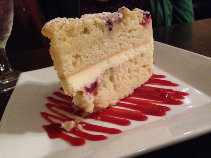 Lemon berry cake from Franklin House Tavern