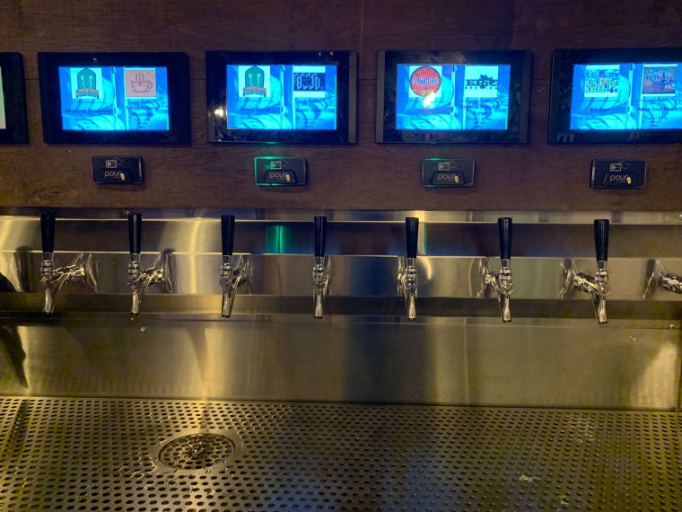 Beer Wall on Penn Taps