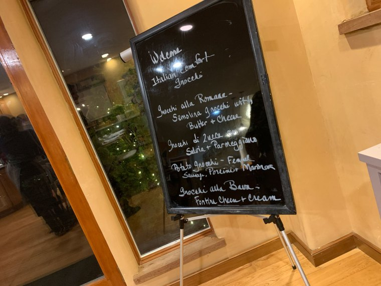 A sign highlighting the menu we would be preparing