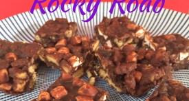 easy rocky road recipe, rocky road, fridge cake, bake sale