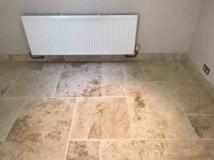 Travertine Floor After Red Wine Stain Removal Swallowfield Reading