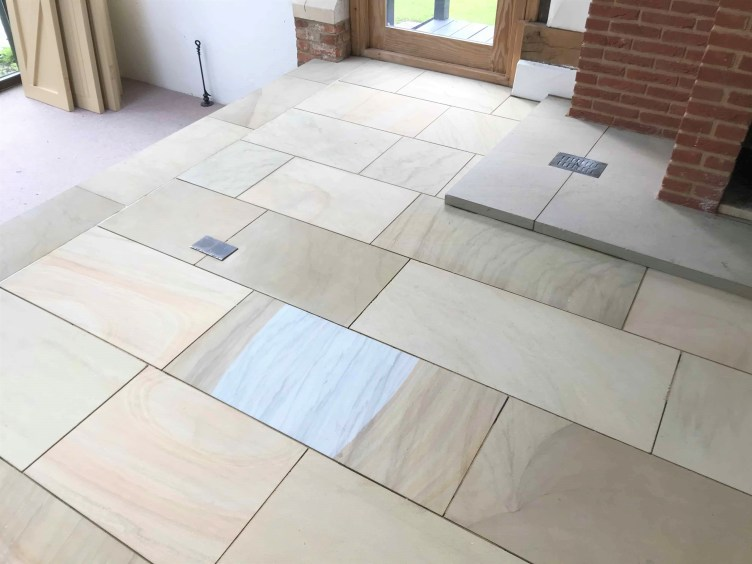 Sandstone Floor After Cleaning Sealing Crowthorne Barn Conversion
