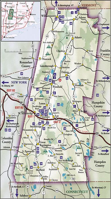 Map Of Berkshires Ma : berkshires, Berkshire, County, Magazine