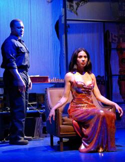 (l) Giuesseppe Jones (Ulysses) and Natalie Mendoza (Josephina), photo by Rick Teller.