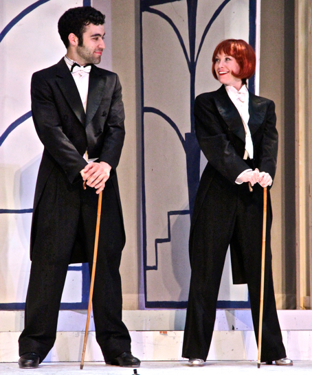 Nicky Romaniello (l) as Captain Billy Buck Chandler and Erin West (r) as Edythe Herbert in My One and Only at Cohoes Music Hall. Photos by Marilyn Rose