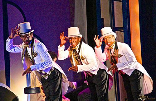 The New Rhythm Boys - Phillip S. Deccus, Romainson Romain, Avery Royal in a photo by Marilyn Rose.