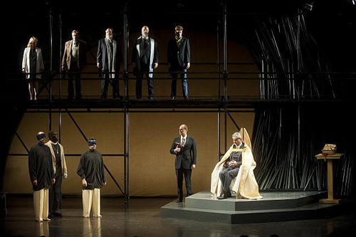 The cast of Richard II. Photo by Kevin Sprague.