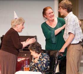 Joan Coombs (Betty), Karen Beaumont (Dottie), Peggy Pharr Wilson (Grace), Theo Gabriel (Johnnie). Photo by Enrico Spada.